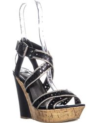Guess - G By Bethia Strappy Wedge Sandals - Lyst