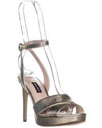 Nine West - Quisha Criss Cross Ankle Strap Sandals - Lyst