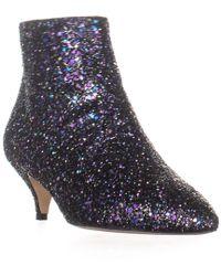 4a665c02913d Lyst - Kate Spade Betsie Too Fringed Leopard-print Calf Hair Ankle Boots