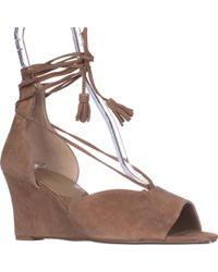 Adrienne Vittadini - Marcey Wedge Sandals - Lyst