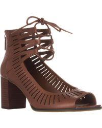 Bella Vita - Keaton Heeled Peep Toe Lace Up Sandals - Lyst