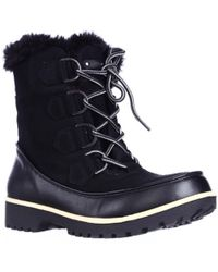 Jambu - Jbu By Mendocino Mid Calf Faux Fur Winter Snow Boots, Black - Lyst