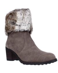 Aerosoles - Incognito Faux Fur Cuff Winter Ankle Boots - Lyst