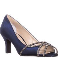 Caparros - Eliza Sparkle Peep Toe Dress Heels - Lyst