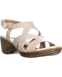 b2302b81f2 Naturalizer - Tanner Peep Toe Strappy Wedge Sandals - Lyst