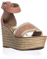 c7cbe43b051 Tommy Hilfiger - Terrin Ankle Strap Wedge Sandals - Lyst
