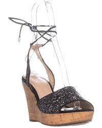 Guess - Wedinna2 Peep Toe Casual Platform Sandals - Lyst