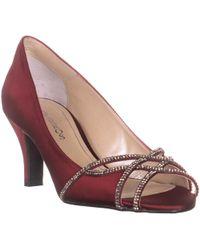 Caparros Eliza Sparkle Peep Toe Dress Heels