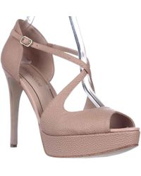 Enzo Angiolini - Abalina Peep-toe Criss Cross Dress Court Shoes - Lyst