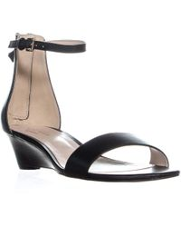 f3e4061246d2d1 Cole Haan - Adderly Wedge Ankle Strap Sandals - Lyst