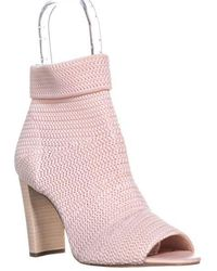 Avec Les Filles - Mariah Peep Toe Ankle Pull On Boots - Lyst