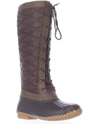 Jambu - Jbu By Etna Lace Up Tall Quilted Rain Boots - Lyst