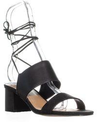 Tahari - Doe Heeled Tie Up Sandals - Lyst