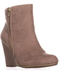 Report - Russi Closed Toe Ankle Platform Boots - Lyst
