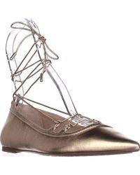 Michael Kors Michael Tabby Flat Lace Up Ballet Flats