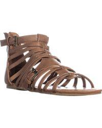 Madden Girl - Maximuss Gladiator Flat Sandals - Lyst