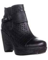 Jambu - Olivia Perforated High Ankle Wedge Boots - Lyst