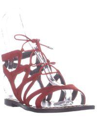 2bfae004dc0f Sam Edelman - Gemma Flat Gladiator Lace Up Sandals - Lyst