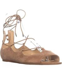 Sam Edelman - Barbara Lace Up Ballet Flats - Lyst