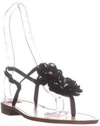 Callisto - Poli T-strap Flower Sandals - Lyst
