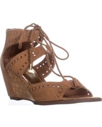 Madden Girl - Rally Lace Up Wedge Sandals - Lyst