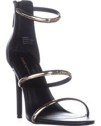 7ffcce97575 Bebe - Berdine Strappy Dress Sandals - Lyst