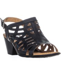 Born - Dixie Perforated Buckle Heeled Sandals - Lyst