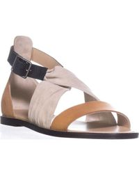 Belstaff - Tallon Ankle Strap Flat Sandals - Lyst