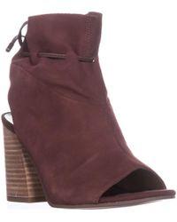 Franco Sarto - Fenwick Peep-toe Ankle Boots - Lyst