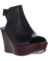 Kenneth Cole - Reaction Sole Chick Wedge Peep Toe Sandals - Lyst