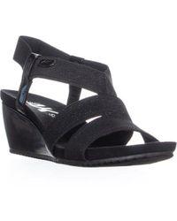 Anne Klein - Ak Sport Cabrini Wedge Slip On Sandals - Lyst
