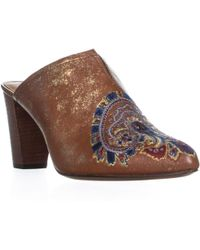 Patricia Nash - Roberta Embroidered Slip On Mule Sandals - Lyst