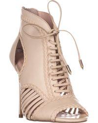 Avec Les Filles - Joyce Lace-up Open-toe Court Shoes - Lyst