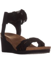 61ace3ffe88 Lucky Brand - Kierlo Ankle Strap Wedge Sandals - Lyst