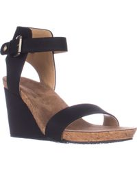 Adrienne Vittadini - Ted Ankle Strap Wedge Sandals - Lyst