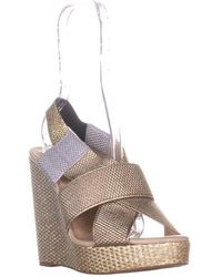be75a74b6dd Lucky Brand - Rishi Slingback Wedge Sandals - Lyst