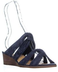 6c53604db6d Lyst - Lucky Brand Rilo Platform Wedge Sandals in Natural