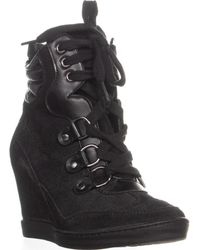 Guess - Marilu2 Lace-up Wedge Sneakers - Lyst