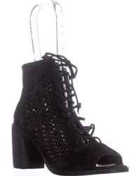 Vince Camuto - Trevan Cutout Lace Up Ankle Boots - Lyst
