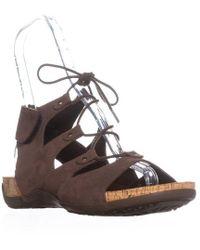 BEARPAW - Jodie Ghillie Gladiator Sandals - Lyst