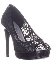 38881985a02 Wallis Silver Peep Toe Court Shoe in Metallic - Lyst