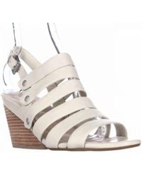 Naya - Lassie Strappy Wedge Sandals, Light Taupe Leather - Lyst