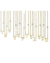 Shy By Sydney Evan - Initial Gold Necklace - Lyst
