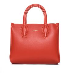 Lanvin - Mini Shopper Bag Orange - Lyst