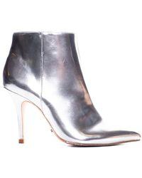 Schutz - Silver Ankle Boot - Lyst