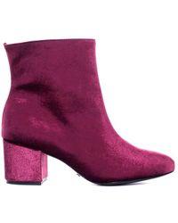 Schutz - Velvet Ankle Boot - Lyst