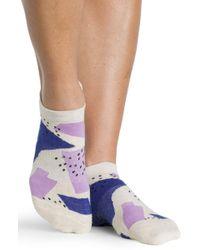 Pointe Studio - Steph Grip Sock Oatmeal Purple - Lyst