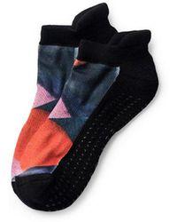 Pointe Studio - Jayne Grip Sock Black And Pink - Lyst