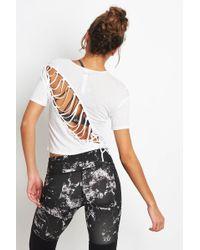 Alo Yoga - Entwine Short Sleeve White - Lyst