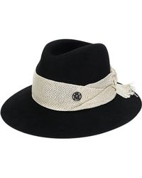 Lyst - Penmayne Of London Willow Fedora Charcoal Festival Band in Black 3adc62deee9e